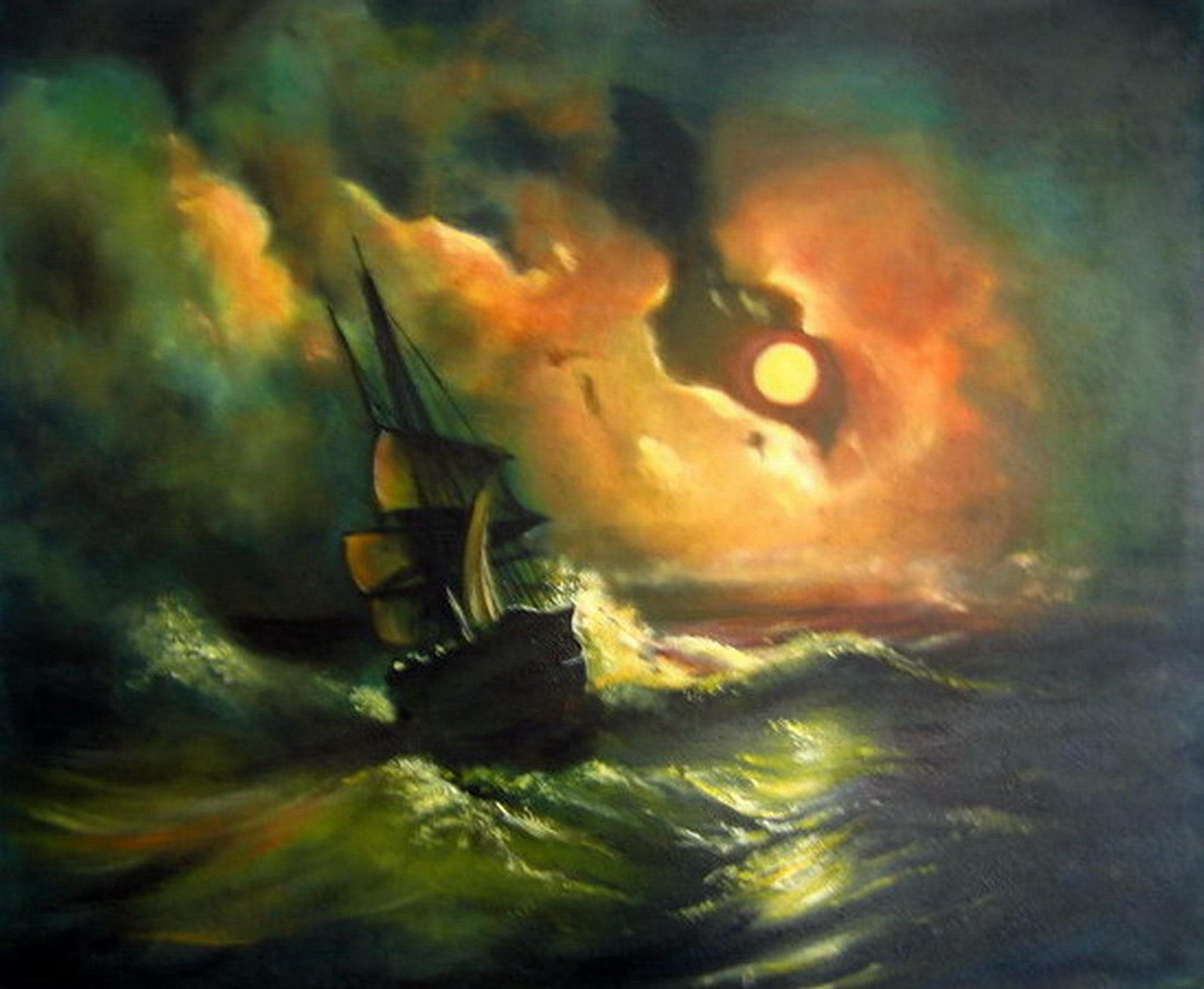 """""""Burza na morzu nocą"""