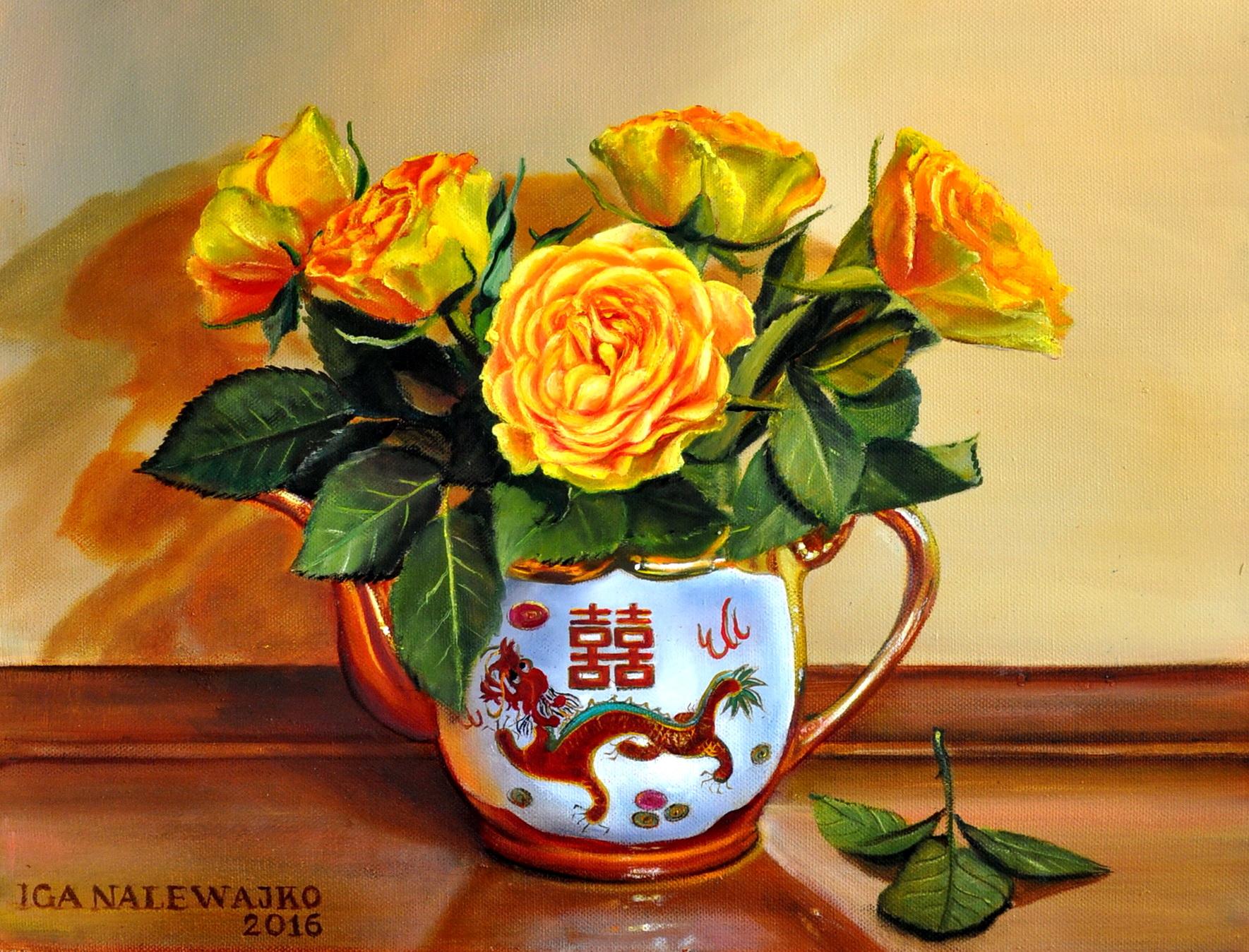 """""""Róże w chińskim dzbanku"""""""