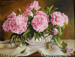 Różowe peonie