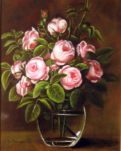 """""""Róże w szklanym wazonie"""""""