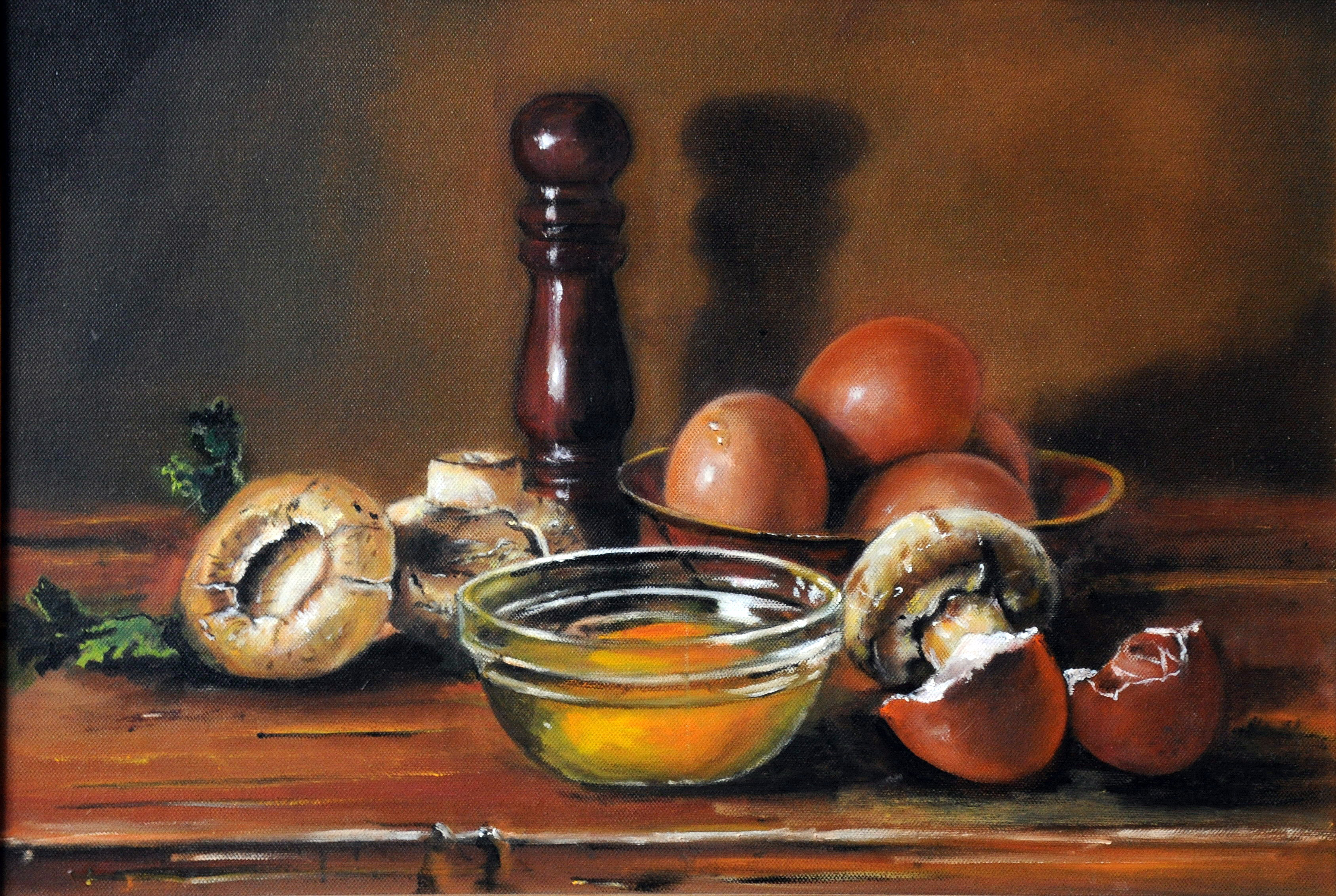 Pieczarki i jajka