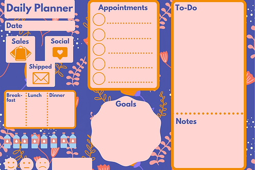 Artists/Makers Daily Planner Digital Download