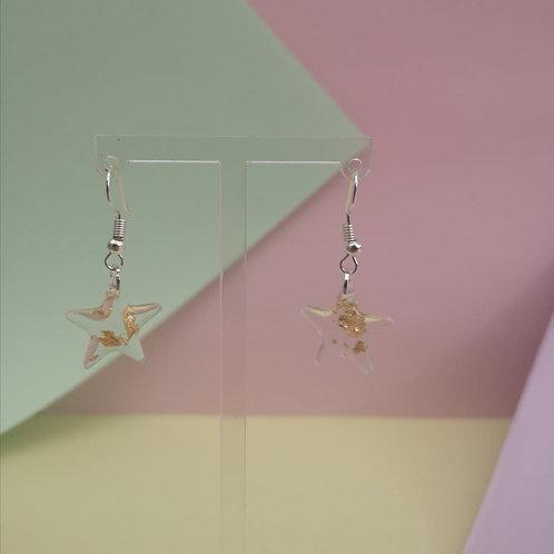 Little Star Gold Leaf Dangle Earrings