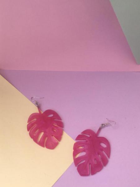 Bright Pink Monsteras