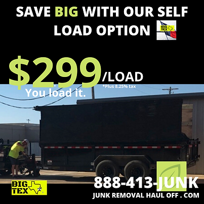 Dumpster Rental Dallas Texas, Selp Load