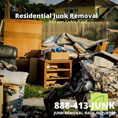 Left over junk pickup service after a mo