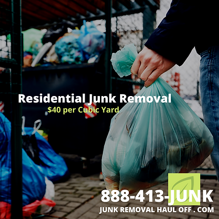 Junk. Removal and Garbage Haul Away serv