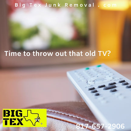 Junk TV pick, Television Disposal, TV removal service