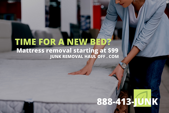 Mattress removal services Dallas TX, old