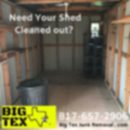 Junk Removal, Shed cleanup, garbage remo