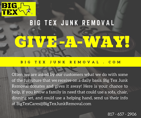 Junk Removal, Big Tex Junk Removal