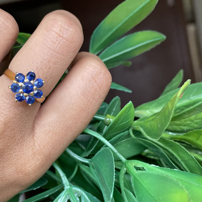 Unheated Blue Sapphire Fl
