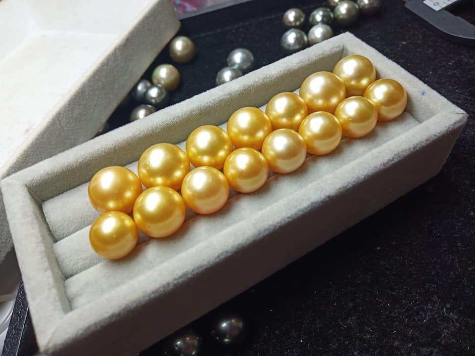 Deep Golden Burmese South Sea Pearls By Burma Jars