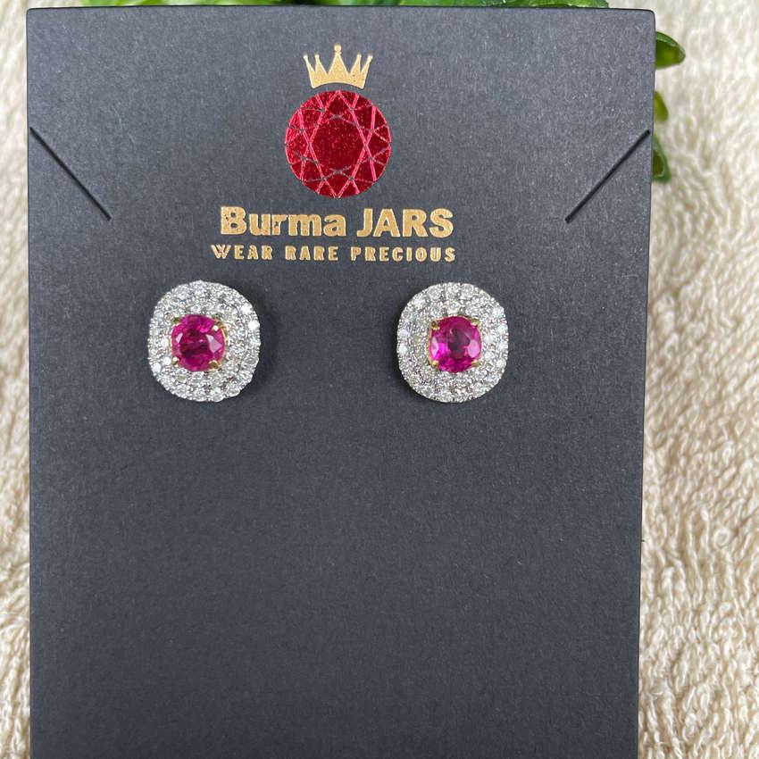 1.4CT Burmese Pinkish Red Unheated Ruby Ring