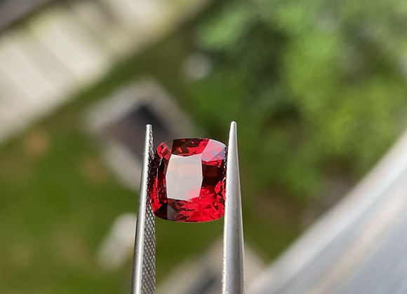 3.22Ct Orangy Red Spinel