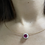 Thumbnail: 0.8Ct Unheated Burmese Ruby Necklace in 18k solid gold