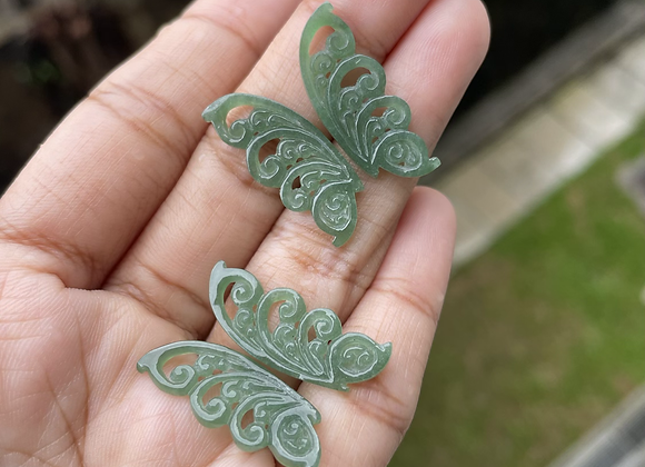 Type A Carved Butterfly Jade