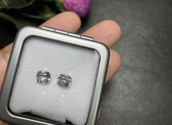 1.6Ct Silvery Grey Spinel Pair
