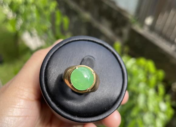 Type A Apple Green Jadeite Jade Ring