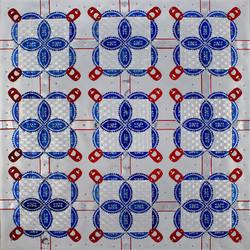 SOLD - Blue Ribbon Quilt II - 16x16