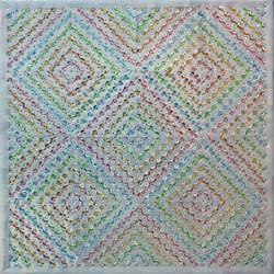 """Reflective Waves III - 16""""x16"""""""