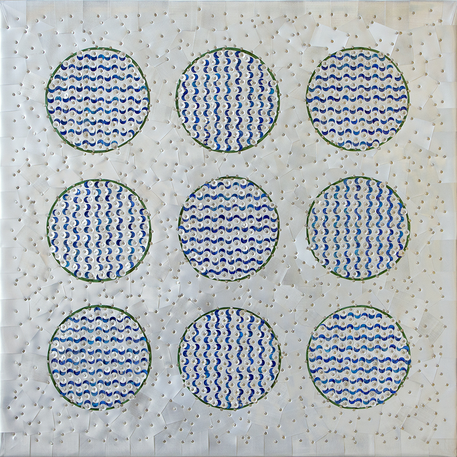 """SOLD - Reflective Waves - 16"""" x 16"""""""