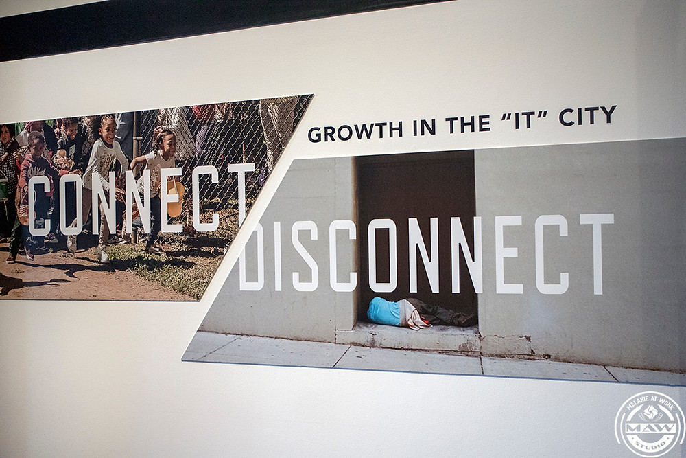 Connect-Disconnect sign in the entryway of The Frist