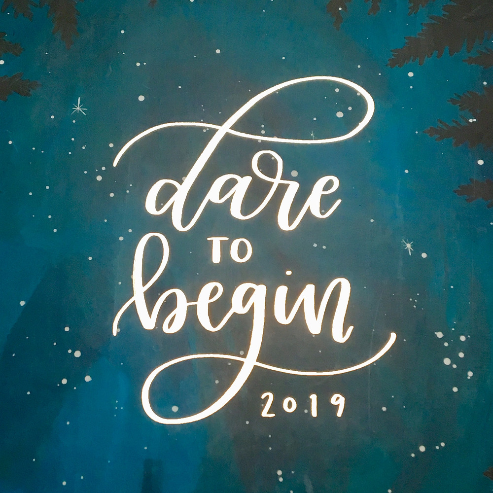 Dare to Begin 12 month 2019 planner by 1canoe2