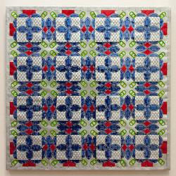 "Blue Ribbon Quilt - 22"" x 22"" - SOLD"