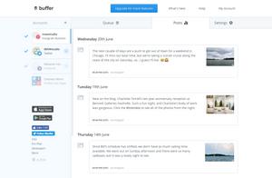 Buffer social media scheduling via MAW Studio