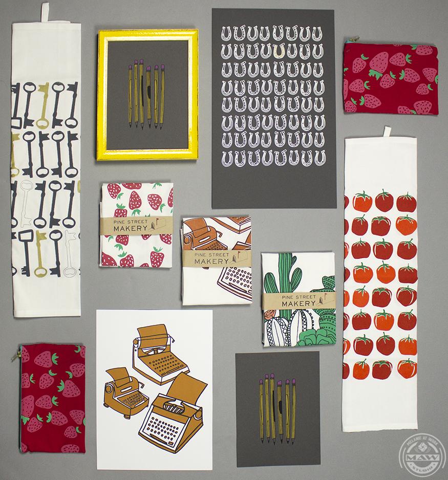 Pine Street Makery - product line