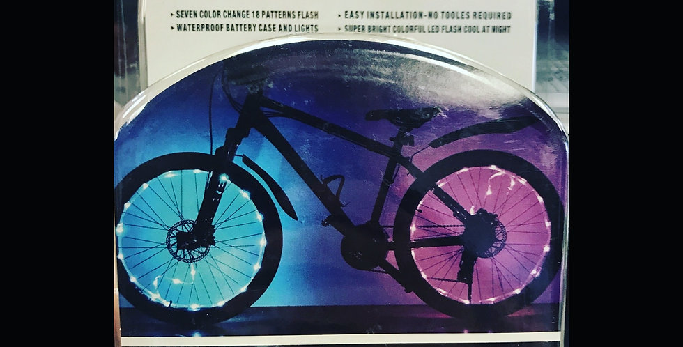 Multicolor/pattern bicycle LED wheel lights