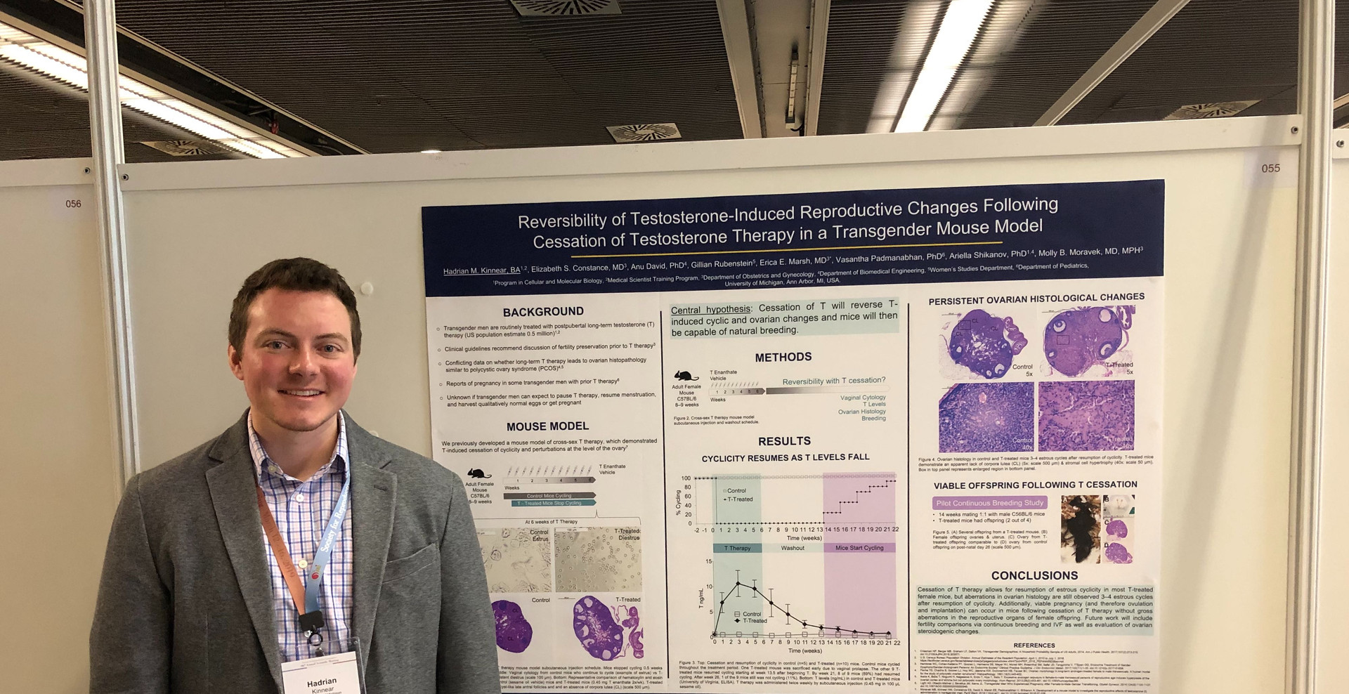 Congratulations to Hadrian Kinnear and his co-authors, for receiving the SRI Poster Award at the SRI conference in Paris!