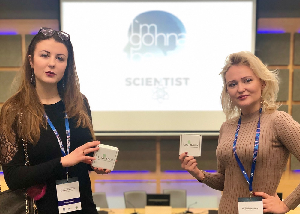 Two Sisters and their medical start-up LogicSock at the UMED conference