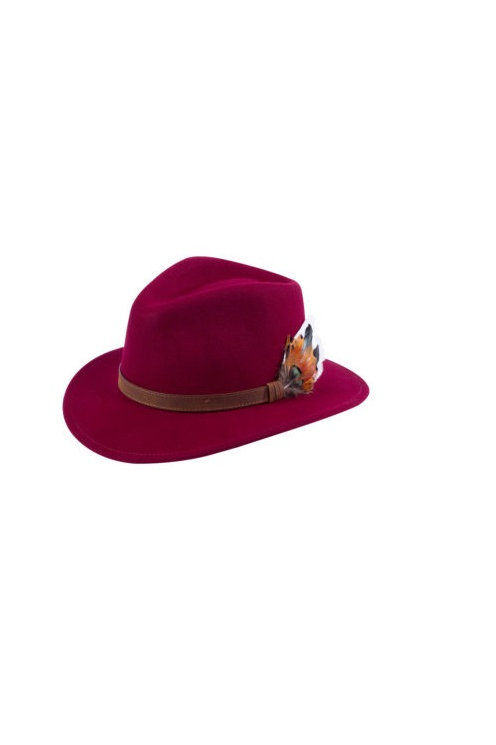ALAN PAINE UNISEX WINE RICHMOND FELT HAT