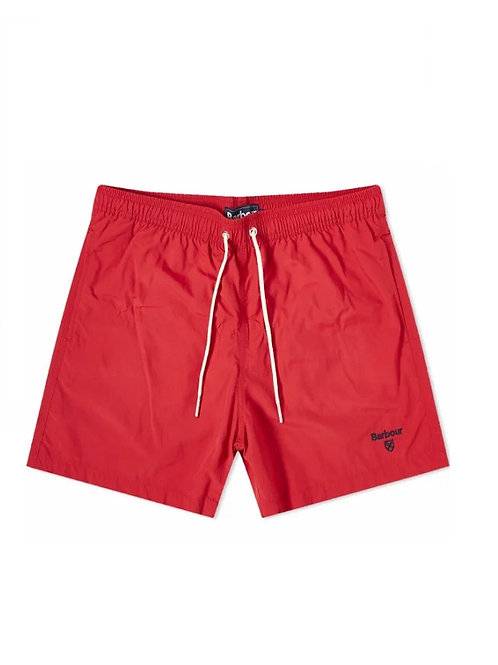 "BARBOUR RED LOGO 5"" SWIM SHORTS"