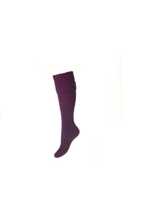 HOUSE OF CHEVIOT LADIES RANNOCH BILBERRY SHOOTING SOCKS