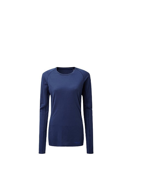 RAB LADIES BLUE PRINT FORGE LONG SLEEVED TOP WITH MERINO
