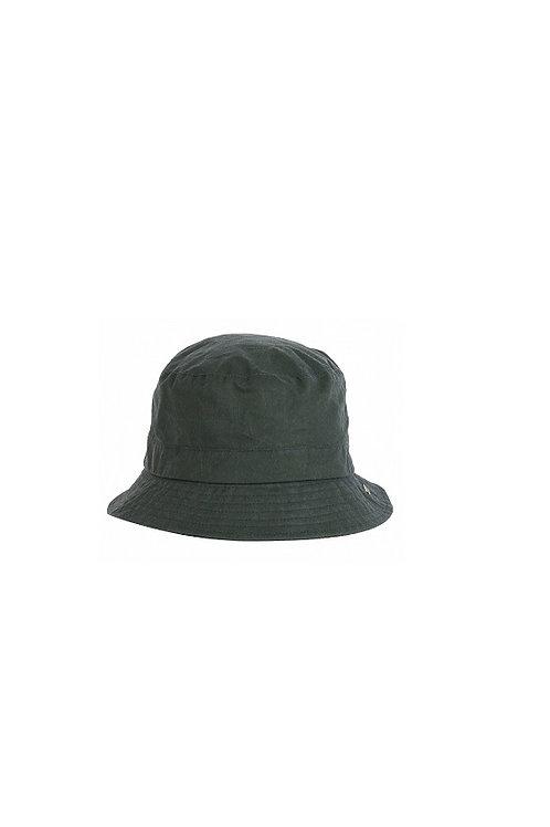 BARBOUR DUFFLE BAG GREEN LIGTHWEIGHT WAX BUCKET HAT