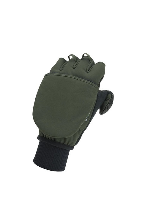 SEALSKINZ OLIVE WINDPROOF COLD WEATHER COVERTIBLE MITT
