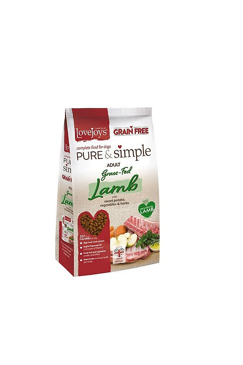 LOVEJOYS PURE AND SIMPLE LAMB GRAIN FREE DRY DOG FOOD 12KG