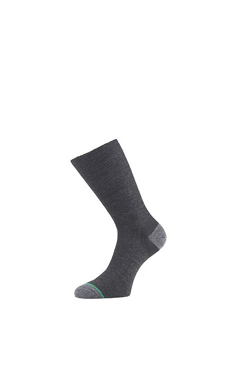 1000 MILE CHARCOAL MENS ULTIMATE LIGHTWEIGHT DOUBLE LAYER WALKING SOCKS