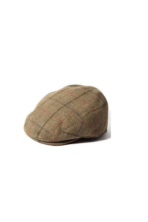 FAILSWORTH  BROWN/RED CHECK (1185) GAMEKEEPER FLAT CAP