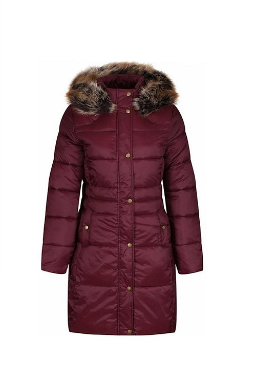 BARBOUR LADIES RED CALDBECK QUILTED JACKET