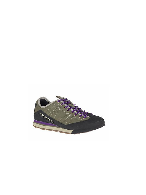 MERRELL LADIES OLIVE CATALYST CANVAS WALKING SHOES