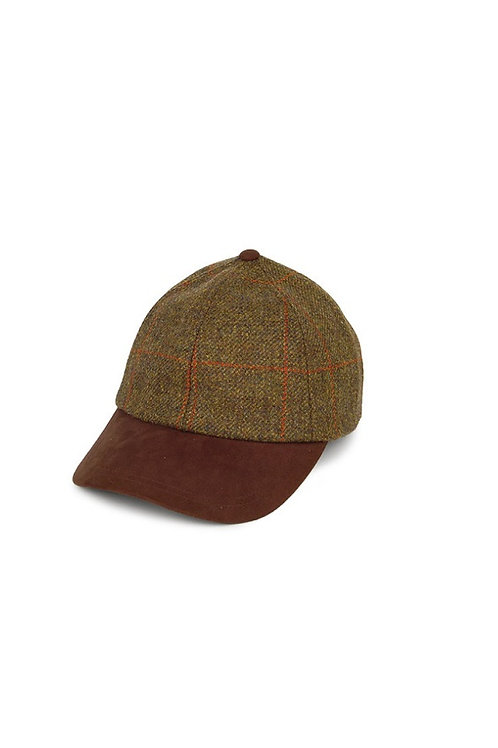 FAILSWORTH OLIVE MIX RED CHECK TWEED (570) EPSOM BASEBALL HAT