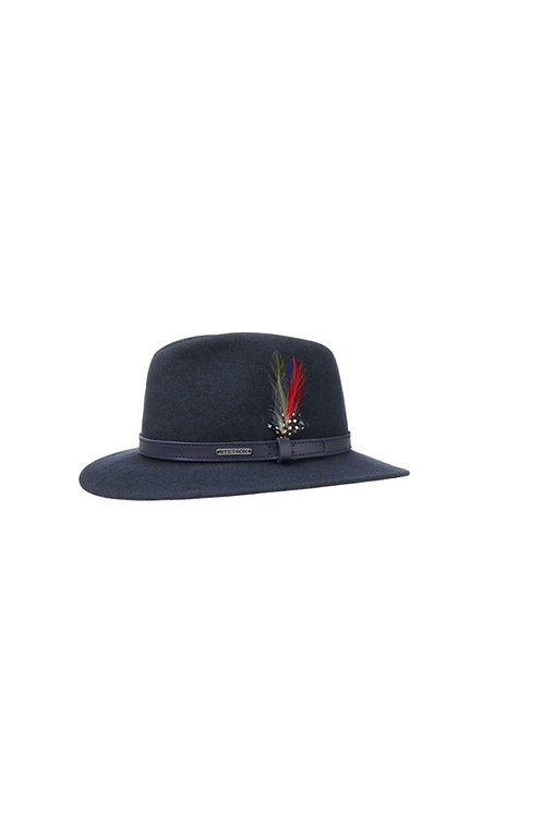 STETSON BLUE (20) POWELL TRAVELLER WOOLFELT HAT (2598123)