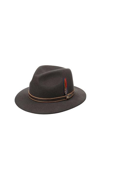 STETSON DARK BROWN (66) CROWNDALE TRAVELLER WOOL HAT (2528112)