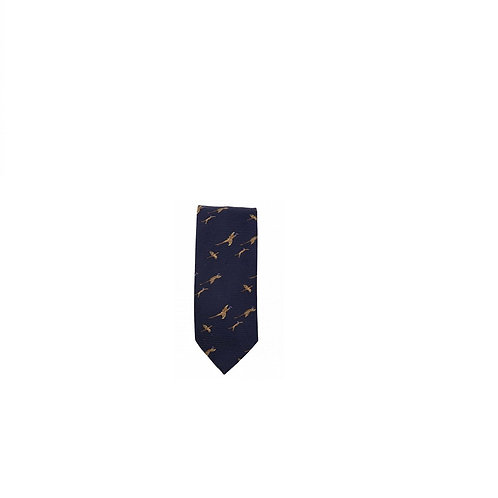 FORT AND STONE NAVY FLYING PHEASANT TIE