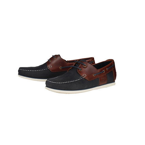 BARBOUR NAVY/BROWN CAPSTAN BOAT SHOES